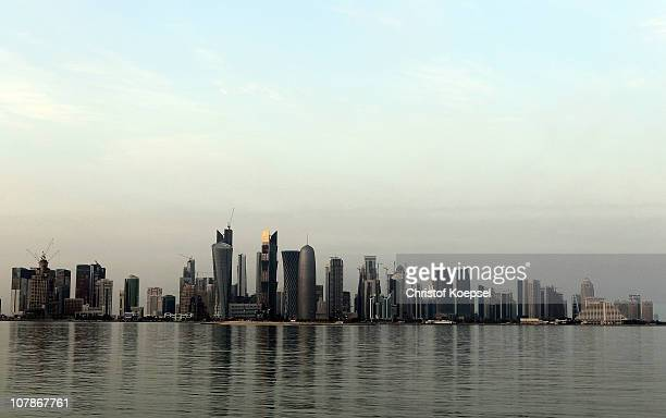 View of the skyline of the West Bay area in Doha is taken on January 4, 2011 in Doha, Qatar. The International Monetary Fund recently reiterated its...