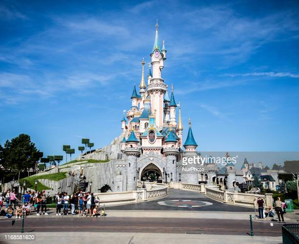 View of the Sleeping Beauty Castle at Disneyland Paris, in Paris, France, on September 14, 2019. Disneyland Paris is one of Europe's most popular...