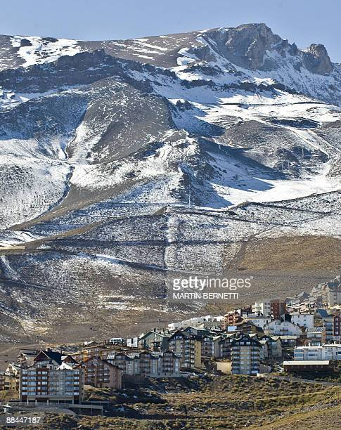 View of the small town of La Parva some 30 km east of Santiago taken on June 11 2009Thousands of tourists are waiting for the ski season which has...