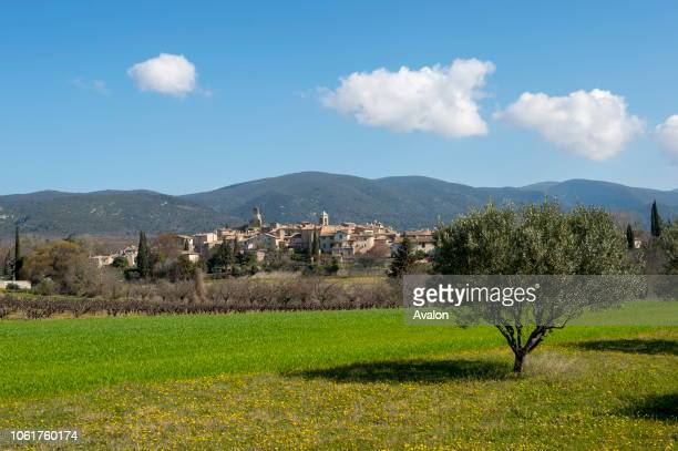 View of the small village of Lourmarin in the Luberon in the ProvenceAlpesCote d'Azur region in southeastern France