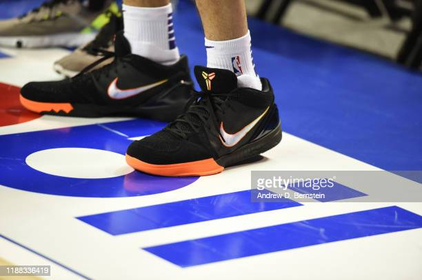 A view of the sneakers of Devin Booker of the Phoenix Suns during practice and media availability as part of the NBA Mexico Games 2019 on December 13...