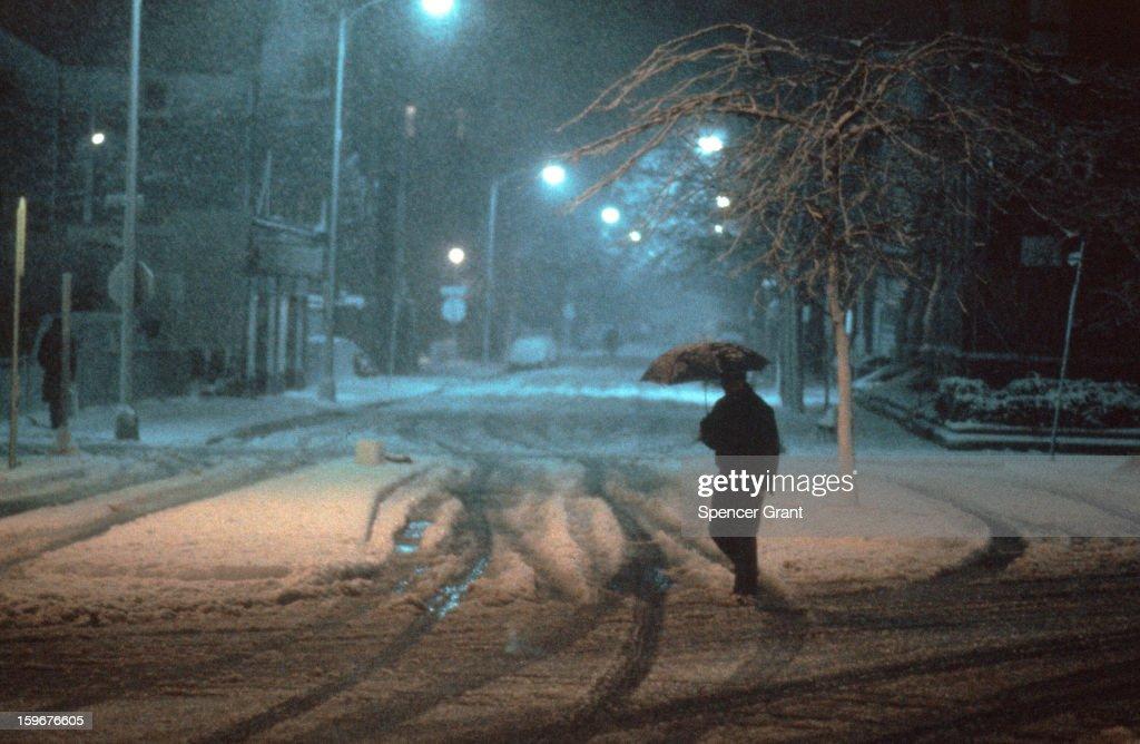 The Snow & Sleet In 1977-1978 Blizzard : News Photo