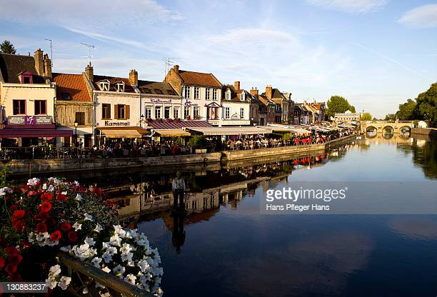 View of the Somme river in Amiens, France, Europe