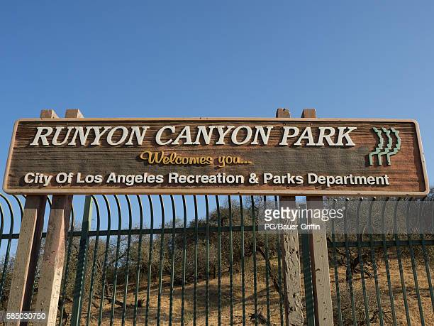 A view of the soon to reopen Runyon Canyon in Hollywood on August 01 2016 in Los Angeles California