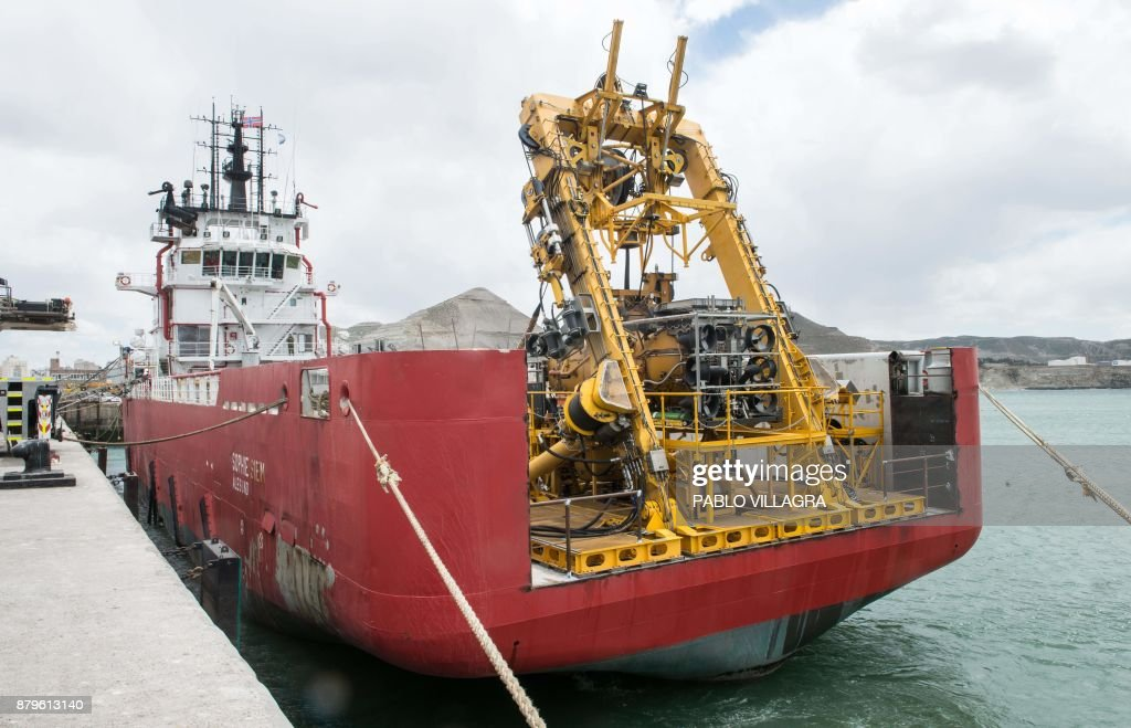view of the sophie siem vessel ready to leave the comodoro rivadavia