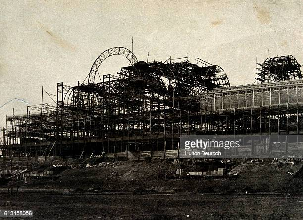 A view of the south transpet of the Crystal Palace built for the Great Exhibition of 1851 Originally in Hyde Park it was dismantled and reassembled...
