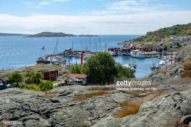 View of the southern port on the island of Stora Dyrön, Bohuslän, Västra Götaland County, Sweden