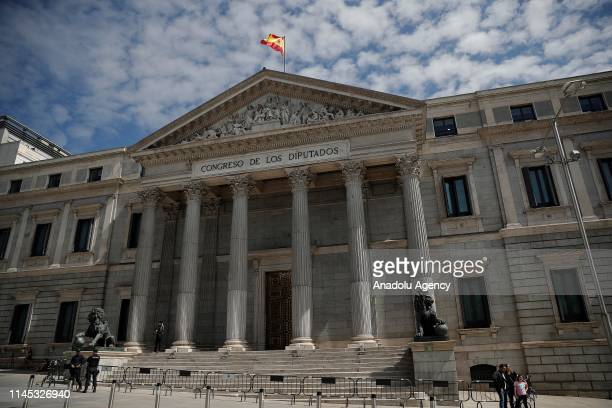 A view of the Spanish Parliament during the first plenary session of the lower house of parliament since last month's general election on May 21 2019...