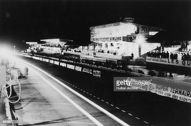A view of the spectator stands at the Circuit de la Sarthe France during the 24 Hours of Le Mans 24th25th June 1950