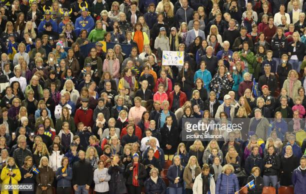 View of the spectators during the Team Show Jumping of the FEIEuropean Championships 2017 in Gothenburg, Sweden, 25 August 2017. Photo: Friso...