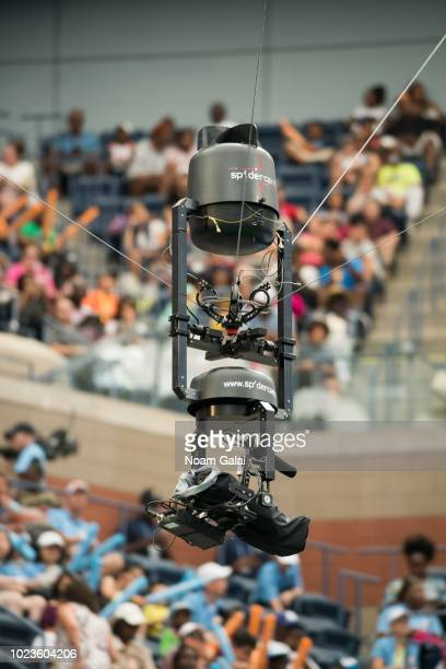 A view of the SpiderCam at the USTA Billie Jean King National Tennis Center on August 25 2018 in New York City