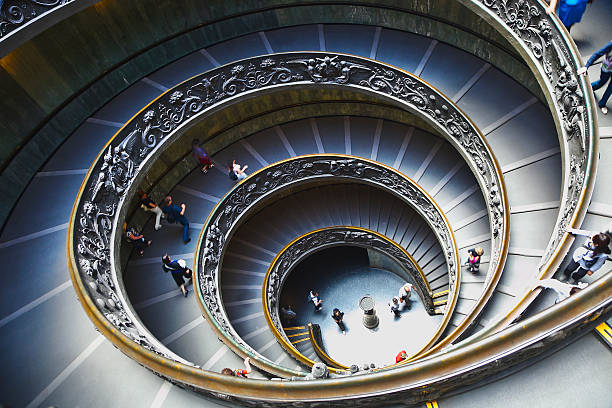 View Of The Spiral Staircase At The Vatican . Wall Art