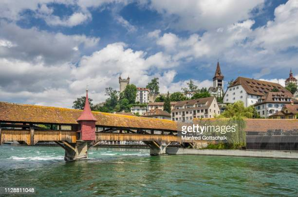 view spreuer bridge medieval covered wooden