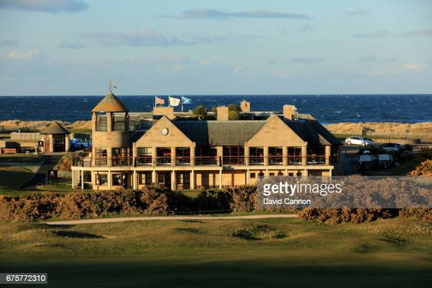 A view of the St Andrews Links Club House at St Andrews taken from the Old Course Hotel on April 18 2017 in St Andrews Scotland
