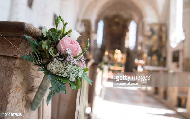 View of the St. Laurentius church at Tegernsee lake in Rottach-Egern, Germany, 8 September 20165. The Catholic wedding of the two musicians Marianne...