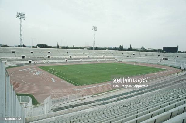 View of the Stadio Olimpico in Rome, Italy in 1984. The Stadio Olimpico will host the upcoming 1984 European Cup Final between Liverpool FC and AS...