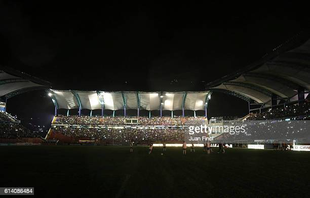 A view of the stadium after a blackout during a match between Venezuela and Brazil as part of FIFA 2018 World Cup Qualifiers at Metropolitano Stadium...