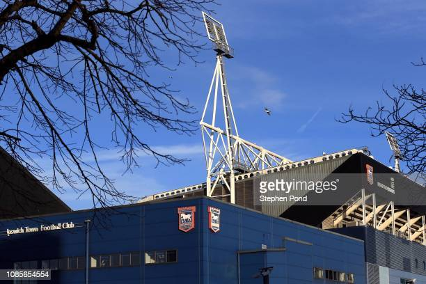 A view of the stadium ahead of the Sky Bet Championship match between Ipswich Town and Sheffield United at Portman Road on December 22 2018 in...