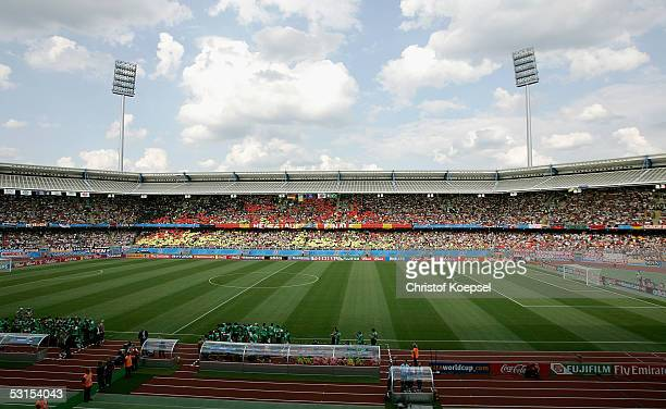 View of the stadium before the Semi Final Match between Germany and Brazil for the FIFA Confederations Cup 2005 at the Franken Stadium on June 25,...