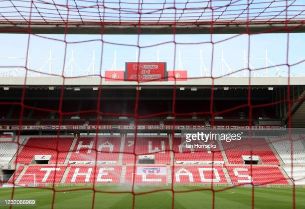 View of the Stadium before the Sky Bet League One match between Sunderland AFC and Oxford United at The Stadium of Light on April 02, 2021 in...