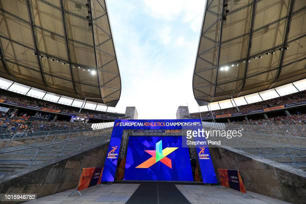 A view of the stadium during day six of the 24th European Athletics Championships at Olympiastadion on August 12 2018 in Berlin Germany This event...