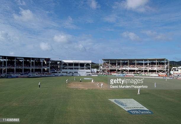 A view of the stadium during the 6th Test match between the West Indies and England at the Recreation Ground in St John's Antigua 24th March 1998...
