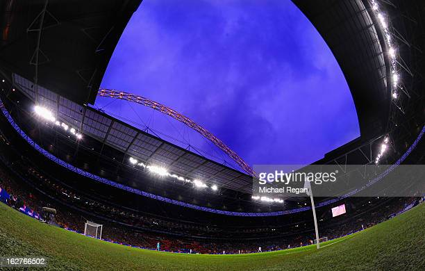 A view of the stadium during the Capital One Cup Final match between Bradford City and Swansea City at Wembley Stadium on February 24 2013 in London...