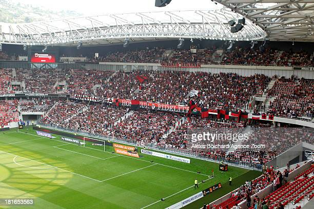 View of the stadium during the French Football League 1 match between OGC Nice and Valenciennes FC on September 22 2013 in Nice France