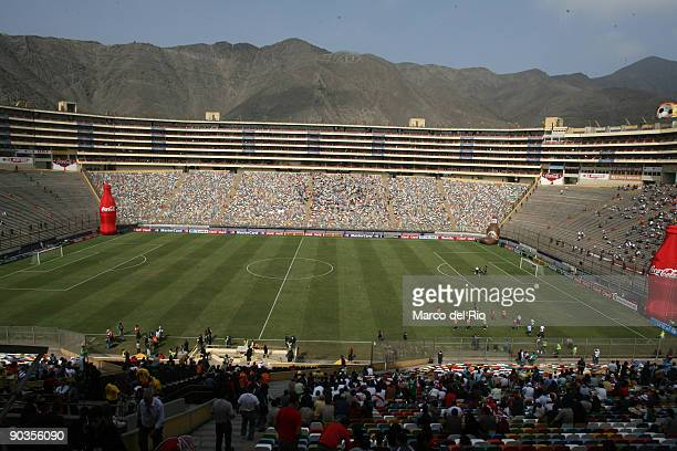 View of the stadium during their FIFA 2010 World Cup Qualifying match against at the Monumental Stadium on September 5 2009 in Lima Peru