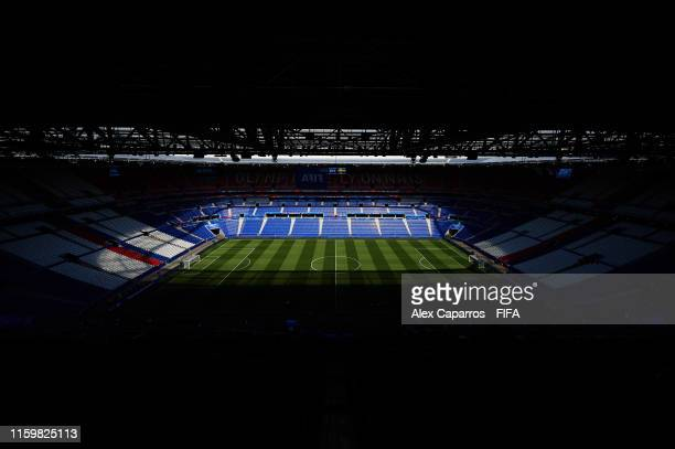 View of the stadium prior to the 2019 FIFA Women's World Cup France Semi Final match between Netherlands and Sweden at Stade de Lyon on July 03, 2019...