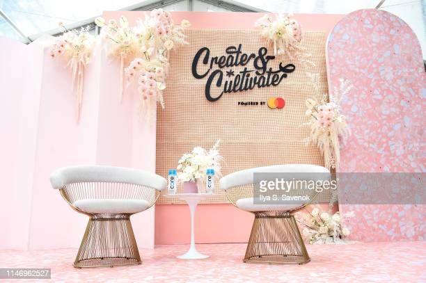 A view of the stage at Create Cultivate New York presented by Mastercard at Industry City on May 04 2019 in Brooklyn New York