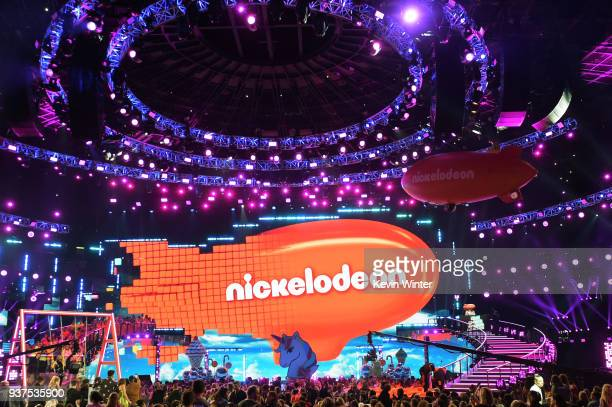 View of the stage at Nickelodeon's 2018 Kids' Choice Awards at The Forum on March 24 2018 in Inglewood California