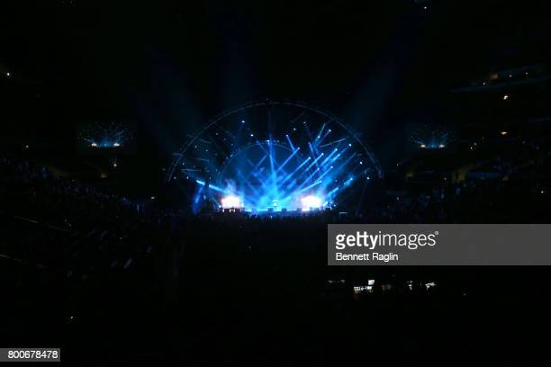 A view of the stage at night three of the STAPLES Center Concert sponsored by Sprite during the 2017 BET Experience at Staples Center on June 24 2017...