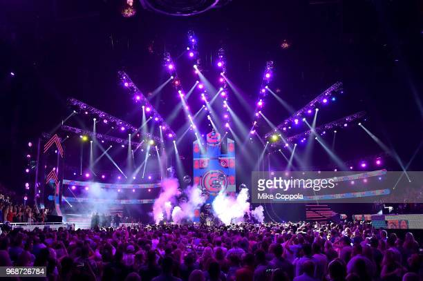 A view of the stage at the 2018 CMT Music Awards at Bridgestone Arena on June 6 2018 in Nashville Tennessee