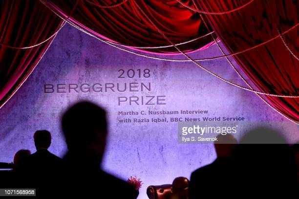 A view of the stage at the Third Annual Berggruen Prize Gala at the New York Public Library on December 10 2018 in New York City