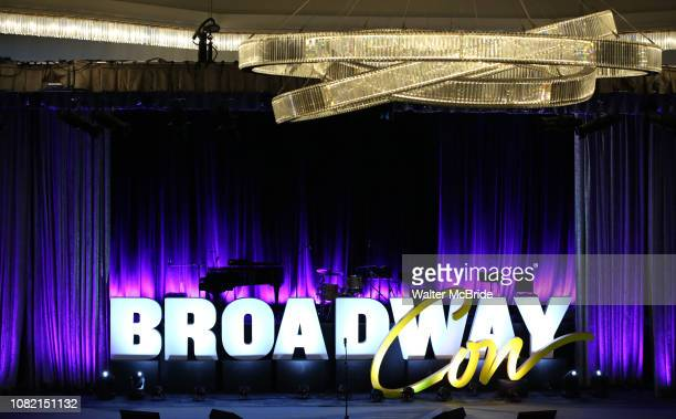 View of the stage during BroadwayCon at New York Hilton Midtown on January 13, 2019 in New York City.