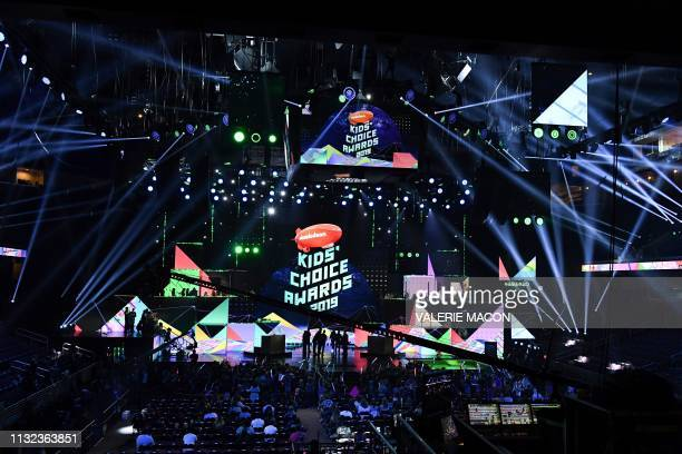 View of the stage during the 32nd Annual Nickelodeon Kids' Choice Awards at the USC Galen Center on March 23 2019 in Los Angeles