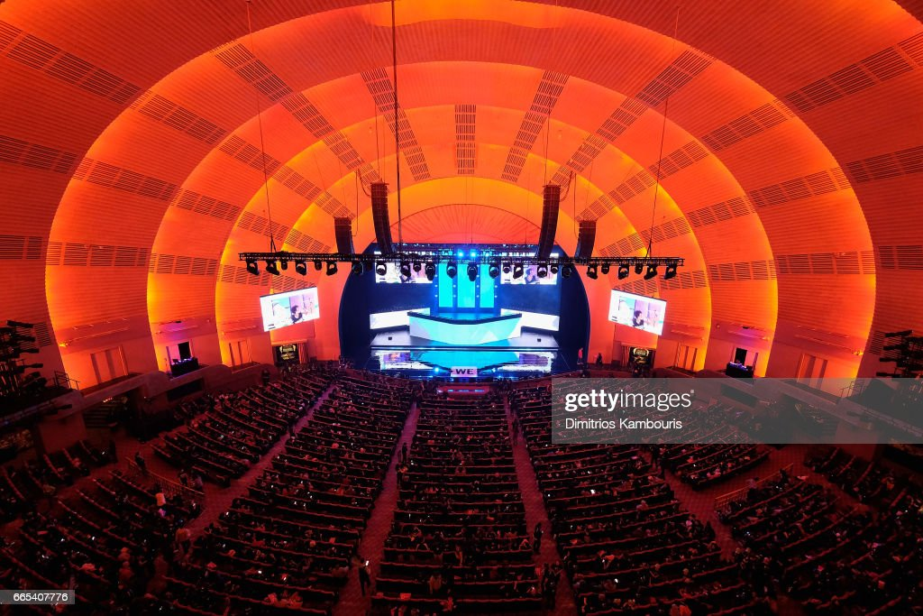 A view of the stage during WE Day New York Welcome to celebrate young people changing the world at Radio City Music Hall on April 6, 2017 in New York City.