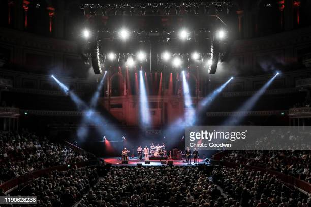 A view of the stage from the top of the auditorium as Average White Band perform at Royal Albert Hall on July 1 2019 in London United Kingdom