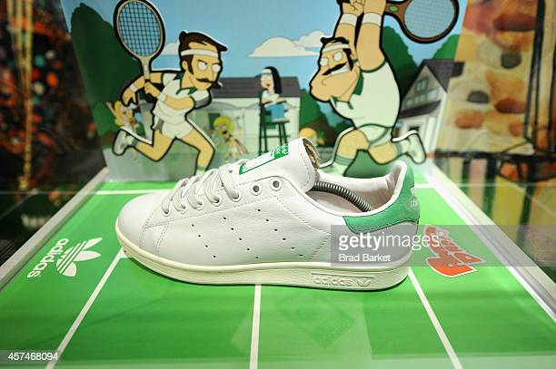 "A view of the Stan Smith x adidas Stan Smith ""American Dad"" sneaker at the American Dad Sneaker Launch at the Adidas Originals Store on October 18..."