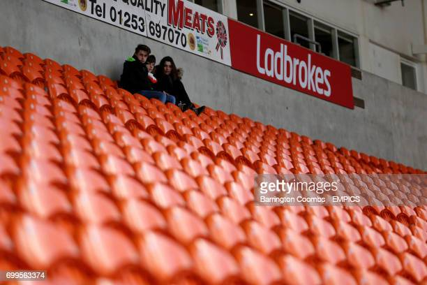 A view of the stands at Bloomfield Road