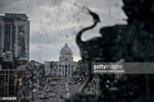 A view of the state capitol on March 6 2015 in Montgomery Alabama March 7 will mark the 50th anniversary of Bloody Sunday when civil rights marchers...