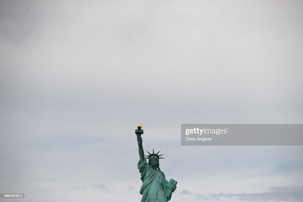A view of the Statue of Liberty as seen from a new NYC Ferry