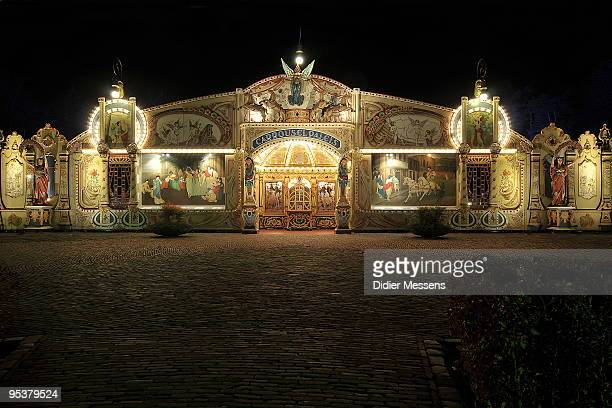 A view of the Steam Carrousel building at Efteling theme park on December 25 2009 in Kaatsheuvel Netherlands