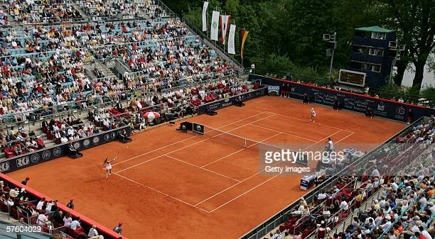 A view of the Steffi Graf Stadium seen during the match between Justine HeninHardenne of Belgium and Amelie Mauresmo of France during the sixth day...