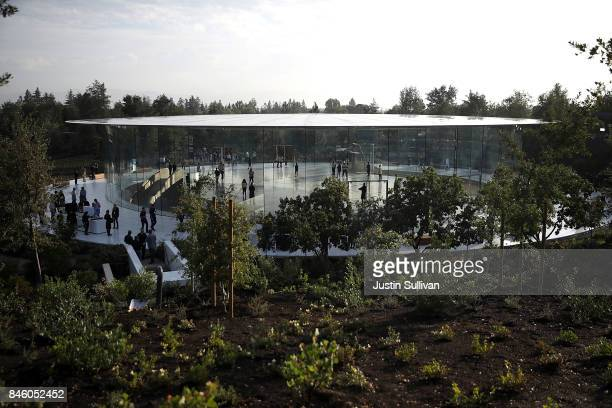 A view of the Steve Jobs Theatre at Apple Park on September 12 2017 in Cupertino California Apple is holding their first special event at the new...