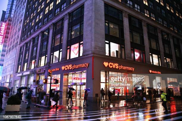 View of the store as CVS Pharmacy unveils new beauty aisles featuring Unaltered brand partner 2019 beauty campaigns on January 24 2019 in New York...