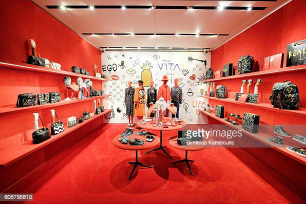 View of the store during the GucciGhost Global Launch Event on September 14, 2016 in New York City.