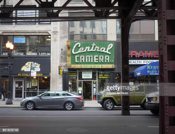 View of the storefronts on South Wabash Avenue in the downtown Loop neighborhood Chicago Illinois September 11 2017 Among those pictured are Al's...