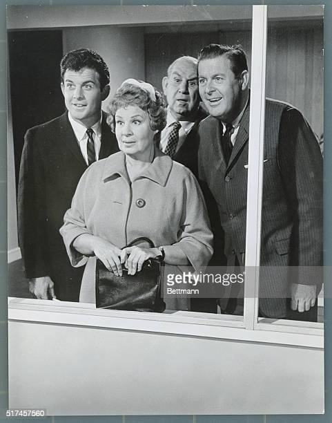 View of the Stork Shirley Booth who stars as Hazel in the series of the same name registers surprise at the arrival of the stork in the episode...